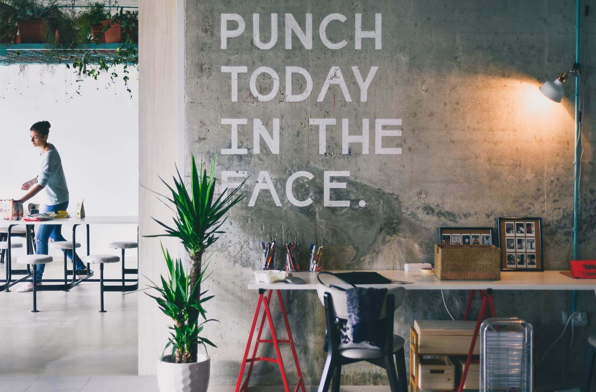 Punch today in the face motivation print