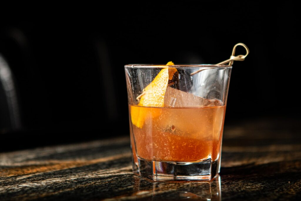 Old Fashioned Cocktail on bar